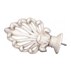 The Merchant Source - 2 in. Compatible Finial - Ludwig (Aged White) - Finish: Aged White. Made of Resin. 7 in. L x 4.25 in. W (1 lbs.)