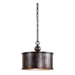 Uttermost - Uttermost Albiano 1 Light Oxidized Bronze Pendant - 21921 - Uttermost Albiano 1 Light Oxidized Bronze Pendant - 21921