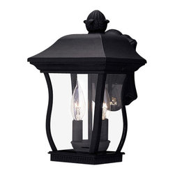 """Designers Fountain - Designers Fountain 2712-BK 2 Light 8.25"""" Cast Aluminum Cast Wall Lantern from th - Features:"""