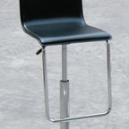 """Creative Images International - Swivel Leather Barstool with Gas Lift - Features: -Leather material. -Chrome legs. -Swivel. -Gas Lift. -Assembly required. -Dimensions: 36"""" Height x 16.5"""" Width x 20"""" Depth."""