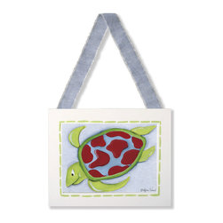 Doodlefish - Small Sea Turtle Framed Art - Small Sea Turtle Framed Art