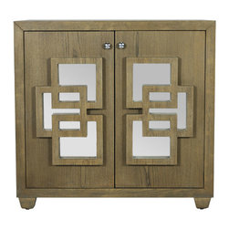 Worlds Away - Worlds Away - Nash 2 Door Veneer Cabinet - Nash-Cabinet, Limed Oak - Worlds Away - Nash 2 Door Veneer Cabinet - NASH