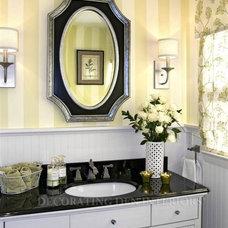 Traditional Powder Room by Nancy Lucas, Decorating Den Interiors, Sea Girt NJ