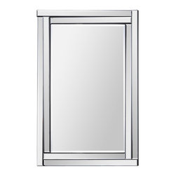 Ren-Wil - Ren-Wil MT1285 Portrait Ava in All Glass - This classic design features a dimensional beveled-mirror frame and a beveled center mirror. With its sophisticated and clean lines this mirror is a perfect addition to any space.