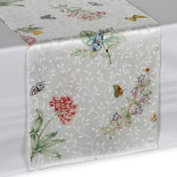 Lenox - Lenox Butterfly Meadow 70-Inch Runner - Turn any meal into a special occasion with this beautiful runner. The lovely springtime design will add a delightful ambiance to your gathering all year long and is designed to coordinate with Lenox's Butterfly Meadow pattern.