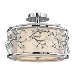 Kichler - Kichler 42306CH Jardine 3 Light Semi-flush Indoor Ceiling Fixture - Product Features: