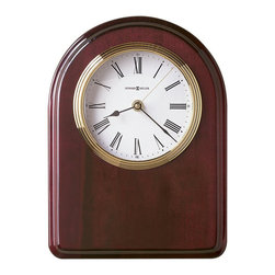 Howard Miller - Howard Miller Honor Time IV Plaque Wall/Table Clock - Howard Miller - Wall Clocks - 625258 - This contemporary plaque clock can be customized with an engraving plate to create a memento for your tabletop or wall. Distinguished by its brushed brass tone dial with diamond-cut numeral ring and attractive matching bezel, the Honor Time I Plaque Wall/Table Clock has a nice glow to it. Beautiful hardwood framing in a rosewood finish and quality quartz movement operation complete the look and appeal of this accent clock.