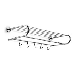 "WS Bath Collections - Duemila 23.6"" - Duemila By WS Bath Collections Towel Rack in Polished Chrome, Solid Brass Base, Made in Italy"
