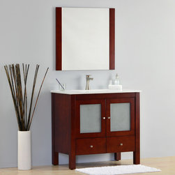 Modern Bathroom Vanities - The Monaco bathroom vanity collection is a timeless beauty. It has a style and color that soothes and balances neutral spaces. The frosted tones radiate a feeling of fluidity that enhances design harmony. It is built to last, completely made out of solid oak.