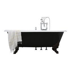 "Penhaglion - 'The Cardigan' 73"" Long Cast Iron Bathtub Package from Penhaglion - Product Details"