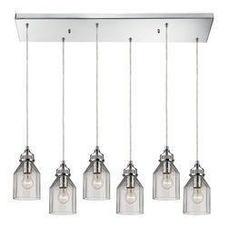 ELK Lighting - Elk Lighting Danica Chandelier - Danica  Collection 6 light chandelier in Polished Chrome