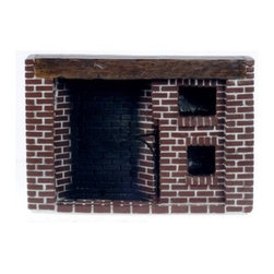 Town Square Miniatures Colonial Fieldstone Walk in Fireplace - This item is intended for collector dollhouses and is not recommended for children under 13 years of age.