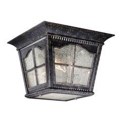 Vaxcel Lighting - Vaxcel Lighting AD-OFU110 Arcadia 3 Light Outdoor Flush Mount Ceiling Fixture - Features: