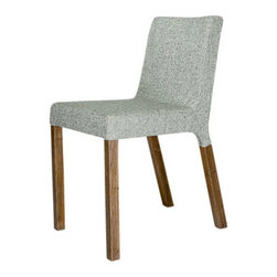 Blu Dot - Blu Dot Knicker Chair, Chalk - The Blu Dot Knicker Chair is a slender, solid dining chair with character and a nice range of upholstery options.