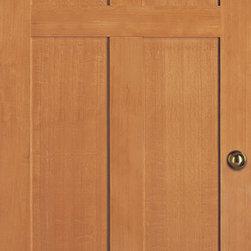 Authentic Wood Doors - Vertical Grain Douglas Fir Shaker Series Flat Four Panel