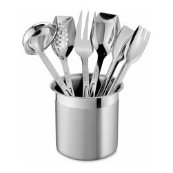 All Clad - All Clad SS Cook Serve Utensil Set - All-Clad's collection of kitchen tools is the perfect companion for All-Clad cookware. The tools have an 18/10 stainless steel construction, making them as sturdy and durable as All-Clad pans. All-Clad tools complement and reflect the brands distinctive style and superior performance to elevate your talent in the kitchen.