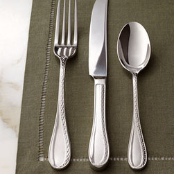 """Lauren Ralph Lauren - Lauren Ralph Lauren Five-Piece """"Spectator"""" Flatware Place Setting - An updated version of a classic spectator pattern adds texture to each piece of this striking flatware. Embellished on front and back for added impact. Imported. Made of 18/10 stainless steel. Dishwasher safe. Five-piece place setting includes dinner..."""