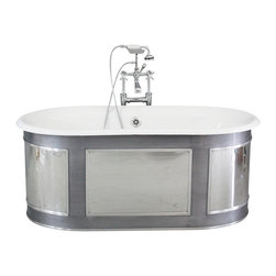 "Penhaglion - The Regency 61"" Cast Iron Double Ended Tub Package from Penhaglion - Product Details"