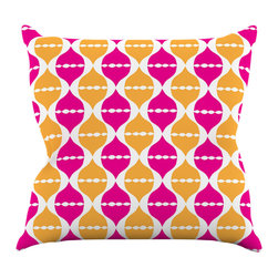"""Kess InHouse - Apple Kaur Designs """"Moroccan Dreams"""" Pink Orange Throw Pillow (20"""" x 20"""") - Rest among the art you love. Transform your hang out room into a hip gallery, that's also comfortable. With this pillow you can create an environment that reflects your unique style. It's amazing what a throw pillow can do to complete a room. (Kess InHouse is not responsible for pillow fighting that may occur as the result of creative stimulation)."""