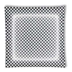"Checkered Flag Race Car Ceiling Light - 12"" square semi flushmount ceiling lamp with designer finish. Includes complete installation instructions and complete light fixture. Wipes clean with a damp cloth. Uses 2-60 watt bulbs (not included) and is made with eco-friendly/non-toxic products. This is not a licensed product, but is made with fully licensed products."