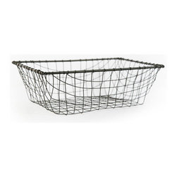 """Vintage Style Letter Wire Tray - My favorite """"In"""" bin is this vintage-inspired piece from Olive Manna. It's the perfect combination of farmhouse and industrial."""