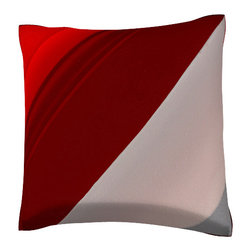 Custom Photo Factory - Close-Up of Red Threshold Pillow.  Polyester Velour Throw Pillow - Close-Up of Red Threshold Pillow. 18 Inches x 18  Inches.  Made in Los Angeles, CA, Set includes: One (1) pillow. Pattern: Full color dye sublimation art print. Cover closure: Concealed zipper. Cover materials: 100-percent polyester velour. Fill materials: Non-allergenic 100-percent polyester. Pillow shape: Square. Dimensions: 18.45 inches wide x 18.45 inches long. Care instructions: Machine washable
