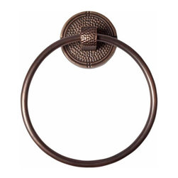 "The Copper Factory - Copper Factory Copper Towel Ring Round Backplate Copper 6 3/4  "" Dia. - Copper Factory Copper Towel Ring Round Backplate Copper 6 3/4  "" Dia."