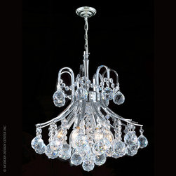Worldwide Lighting Empire Chandelier W83039C16 - Worldwide Lighting Empire Collection 6 light Chrome Finish and Clear Crystal Mini Chandelier
