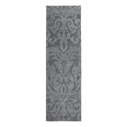 "Surya - Hand Loomed Sculpture Wool Rug SCU-7519 - 2'6"" x 8' - Striking and sophisticated, the rugs of the Sculpture Collection utilize the art of surface carving to reveal elegant pattern and textural energy. Created by respected interior designer Candice Olson, each rug is an artistic representation of ultimate luxury and simplicity. Hand-woven from 1% Wool, they make the ideal addition to any transitional or contemporary interior."