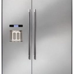 """Dacor - DYF42BIWS Discovery 42"""" Built-in Side by Side Refrigerator with 25.3 cu. ft. Cap - Dacor Discovery 42 Built-In Refrigerators help to define your luxury kitchen With advanced features like the Ingredient Care Center - that ensures ultimate freshness taste and texture of your favorite cheeses fresh produce herbs and meats in an elect..."""
