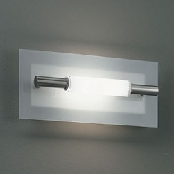 "Studio Italia Design - Polis AP2/PL2 Wall Sconce / Ceiling Light - Small - Product Details:     The Polis AP2/PL2 Wall Sconce / Ceiling Light from Studio Italia Design is designed by SID and provides diffused lighting. This fixture is available in three sizes with a satin nickel metal frame with a sanded crystal diffuser and safety glass. ETL Listed.   Details:                                Manufacturer:                            Studio Italia Design                                                            Designer:                            SID - 2003                                                Made in:                            Italy                                                Dimensions:                            Height: 7.2"" (18.5cm) X Width: 14.7"" (37.5cm)                                                              Light bulb:                                          1 x 200W R7 118mm Halogen                                                 Material:                            metal, glass"