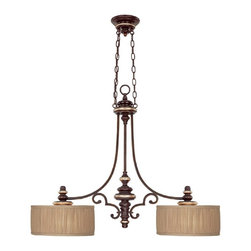 Capital Lighting - Capital Lighting Park Place Transitional Kitchen Island Light X-744-ZC7883 - You don't have to live in a ritzy neighborhood to decorate with this Capital Lighting Park Place transitional kitchen island light. This piece adds a touch of elegance to any home, with its gently sweeping arms in a champagne bronze finish and beautiful, fabric shades. It's a piece that adds the finishing touch to your home decor.