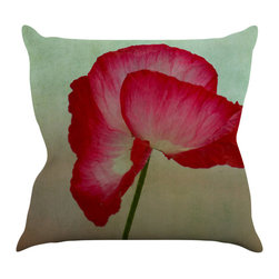 "Kess InHouse - Robin Dickinson ""La Te Da"" Magenta Poppies Throw Pillow (20"" x 20"") - Rest among the art you love. Transform your hang out room into a hip gallery, that's also comfortable. With this pillow you can create an environment that reflects your unique style. It's amazing what a throw pillow can do to complete a room. (Kess InHouse is not responsible for pillow fighting that may occur as the result of creative stimulation)."