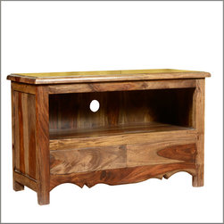 Colonial Farmhouse Indian Rosewood TV Stand Media Console - Create your own special traditions with our classic Colonial Entertainment Center.