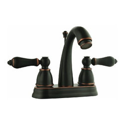 DHI-Corp - Hathaway 4-Inch Lavatory Faucet, Oil Rubbed Bronze - The Design House 523340 Hathaway Lavatory Faucet features a dual handle design, 3-hole, 4-inch mount and brass and plastic pop-up for sealing your drain. This faucet's body and handles are made of brass. Finished in oil rubbed bronze, this faucet is vintage inspired with a petite design to accent any bathroom. Compared to the 1-5 year lifespan of traditional faucets, ceramic disc faucets can last up to 30 years and provide ultimate protection against corrosion to the water valve. The 1.3-gallon per minute flow rate ensures a steady water flow after years of everyday use and the high vaulted spout extends 3.9-inches which leaves plenty of room for washing your hands. This faucet has a quarter turn stop lever handle operation and is UPC, ADA, lead-free and cUPC compliant. The Design House 523340 Hathaway Lavatory Faucet comes with a lifetime limited warranty that protects against defects in materials and workmanship. Design House offers products in multiple home decor categories including lighting, ceiling fans, hardware and plumbing products. With years of hands-on experience, Design House understands every aspect of the home decor industry, and devotes itself to providing quality products across the home decor spectrum. Providing value to their customers, Design House uses industry leading merchandising solutions and innovative programs. Design House is committed to providing high quality products for your home improvement projects.