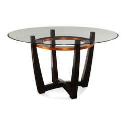 bassett-mirror-elation-round-glass-top-dining-table-d1078-700 - Belongs to Ovation Collection by Bassett Mirror