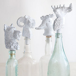 Menagerie Bottle Stopper - How fun are these bottle stoppers? They'd bring such whimsy touches to a dining table. Grab two bottles of red wine and two bottles of white wine (or sparking water) that you're serving with dinner, replace the corks with these bottle stoppers and space them evenly on the table to create effortless and functional decor.