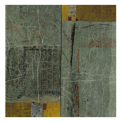 Kathleen Mooney Artist - The Kiss Original Abstract Painting by Kathleen Mooney - The Kiss is an original abstract painting - 2 panels - in gray, amber, charcoal by Kathleen Mooney, NWS, ISEA-NF award winning contemporary international artist - in her signature multilayered acrylic on gallery wrap canvas with finished sides - arrives wired and ready to hang. Gallery wrap is a finished contemporary presentation (or if you wish you may add your own frame after purchase). Clean with a dry soft brush as needed.