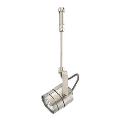 """Seagull - Seagull Ambiance' Transitions 1 Light Track Lighting in Brushed Stainless - Shown in picture: CLOSEOUT SPECIAL - 95155-98 RTx Directional Roundback 6"""" Stem with Rail Adapter in Brushed Stainless finish"""