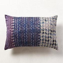 Anthropologie - Silk Pondicherry Pillow - *Hand-embroidered