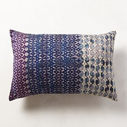 Anthropologie - Silk Pondicherry Pillow - *Hand-embroidered