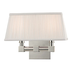 HUDSON VALLEY LIGHTING - Hudson Valley Lighting Dixon-Wall Sconce Polished Nickel - Free Shipping
