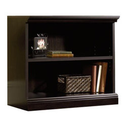 Sauder - Sauder 2 Shelf Bookcase in Estate Black - Sauder - Bookcases - 412175 - This bookcase is a practical addition to any home or office with an adjustable shelf this bookcase will add style and storage to any room. Estate Black finish.