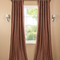 Red & Gold Hand Weaved Cotton Curtain - The Hand Weaved Cotton curtains & drapes add a casual and warm look to any window. These drapes are tailored from the finest hand loomed cotton blend