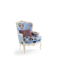 Moda collection on Imagine-living - New Moda collection on Imagine Living; for details email ilive@imagine-living.com. Bergere Armchair in special fabric (you can not order this fabric. It was designed specially for Moda). €3,295