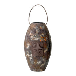 "Antique Finish Vase - The antique finish vase measures 15.5"" x 8.75"". This vase has a rope at the top for easy lifting. It will add a definite nautical touch to whatever room it is placed in and is a must have for those who appreciate high quality nautical decor. It makes a great gift, impressive decoration  will be admired by all those who love the sea."