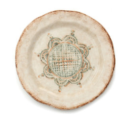 Arte Italica - Chianti Salad/Dessert Plate - Give your small bites big style. Ideal for salad, appetizers or dessert, this handmade, imported ceramic plate boasts robust yet subtle colors and rustic design to add that Tuscan villa vibe to your everyday meals.