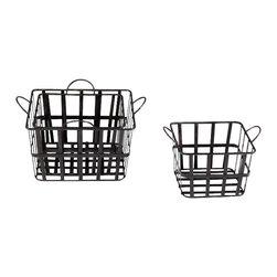 Cyan Design - Grocery Baskets - Grocery baskets - raw steel