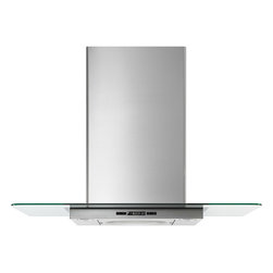 """Jenn-Air 36"""" Glass Collection Wall Mount Canopy Hood, Stainless/blk 