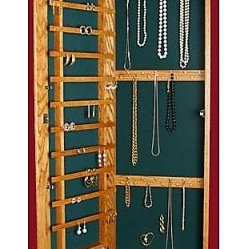 Recessed Wall-Mounted Wooden Jewelry Armoire